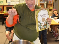 Strega Nona came to visit the Library!